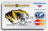 Missouri Tigers Credit Card